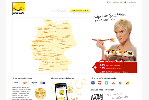 Kurzmitteilungen: lieferando.de, Pizza.de, Payleven, Sumup, Modomoto, DailyDeal