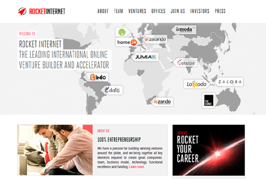 Summit Partners investiert Millionensumme in ein Dutzend Rocket Internet-Start-ups