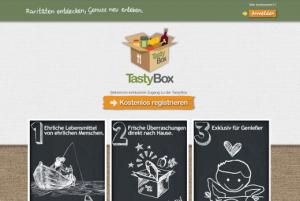 Foodiesqare TastyBox Startseite - Deutsche Start-ups