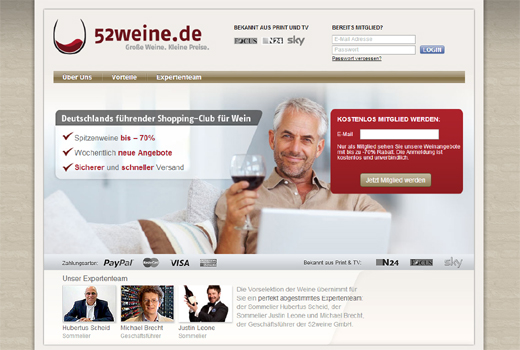 3 neue Deals: 52Weine.de, BestFewo, d3media