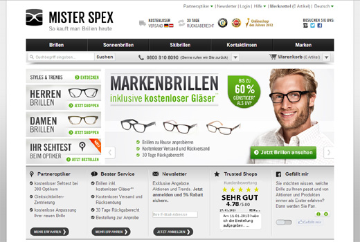 Kurzmitteilungen: Mister Spex, Kredito24, erento, Tengelmann E-Commerce-Day