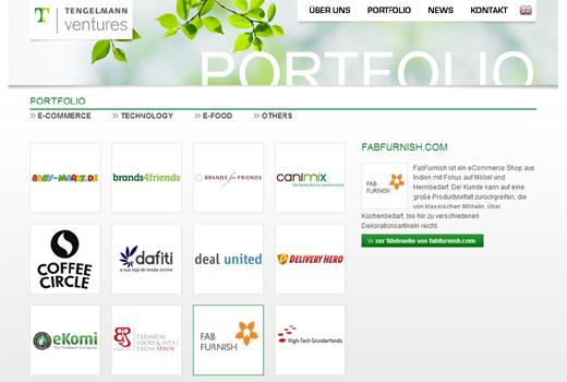 Tengelmann Ventures investiert nun auch in FabFurnish Mebelrama und Zanui