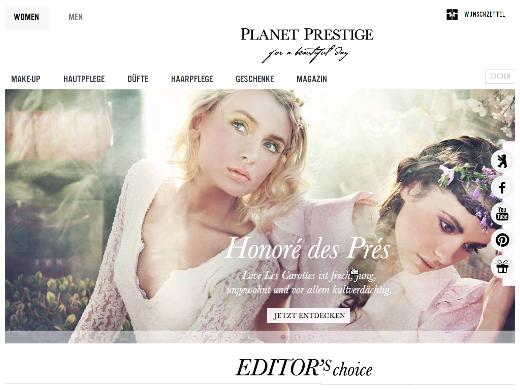 Planet Prestige verkauft Luxus-Kosmetik-Produkte