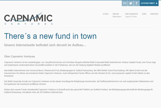 Capnamic Ventures startet – Binnenbrücker und Siegele starten neuen Kapitalgeber
