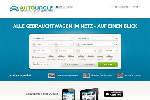 Autouncle – Preisvergleich für Gebrauchtwagen – fährt in Deutschland vor