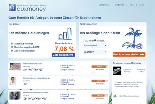 Auxmoney gewinnt Index und Union Square als Investoren