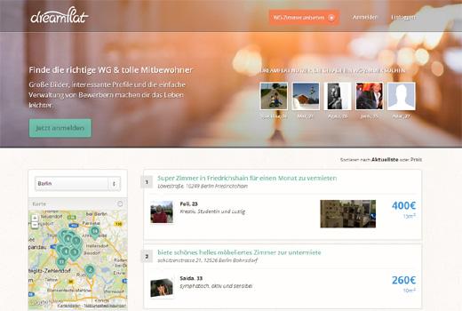 5 neue Start-ups: Dreamflat, Onelocal, abiweb.de, stockitude, Flirtsaver