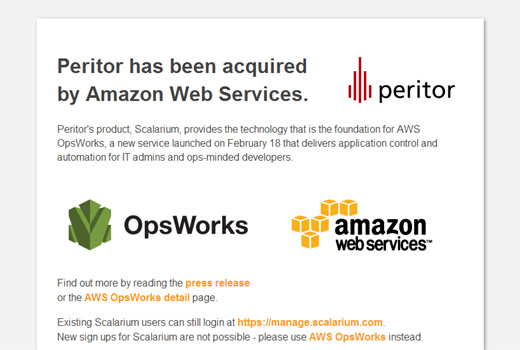 Amazon Web Services übernimmt Berliner Start-up peritor – Aus Scalarium wird AWS Opsworks
