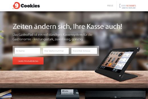 Mit 9Cookies wandert die Gastrokasse ins Netz