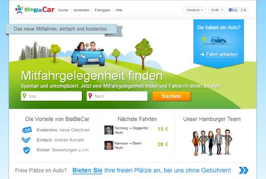 5 neue Startups: BlaBlaCar, Montredo, Spotted Now, alvari, Lebenslauf.com