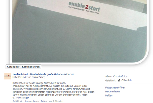 Kurzmitteilungen: enable2start, Heilemann & Company, barcoo, Rheinland-Pitch, Plug and Play