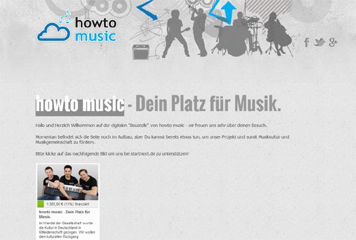 Start-up-Radar: howto music