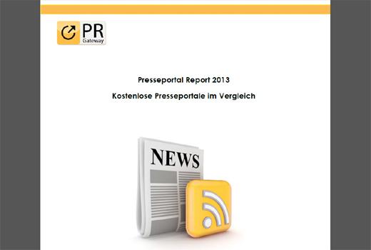 Presseportal Report 2013 – nützliche Infos über kostenlose Presseportale