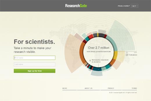 Researchgate sammelt 20 Millionen US-Dollar ein