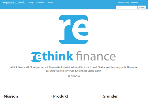 Start-up-Radar: rethink finance