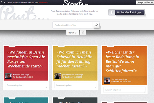 5 neue Start-ups: Secrets.in, Coachme, Chuisy, DJs-Deutschland.de, Wohlfühlkiste