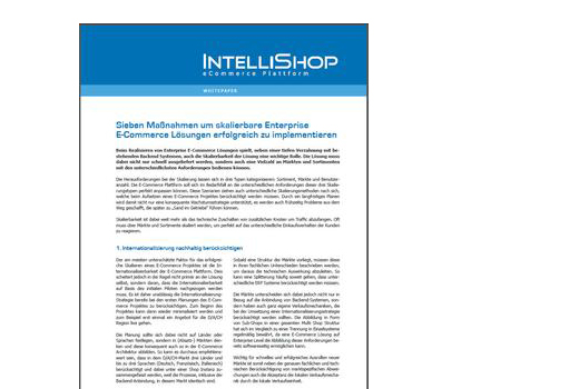 Skalierbarkeit: Enterprise E-Commerce Lösungen als Whitepaper