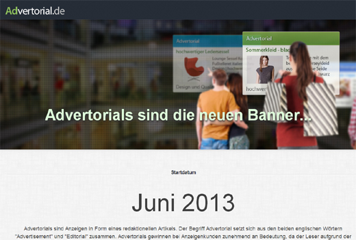 Start-up-Radar: Advertorial.de