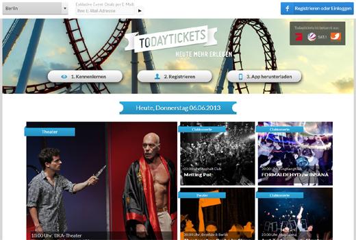 Todaytickets versorgt spontane Feierbiester mit Tickets – Epic Companies unterstützt das junge Berliner Start-up