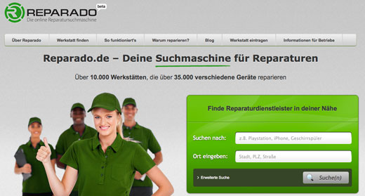 5 neue Start-ups: reparado, infyouse, Peterest, Lindalino, BookLikes