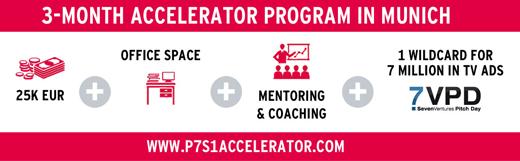 ProSiebenSat.1 fördert Start-ups: Bewerbung für den ProSiebenSat.1 Accelerator noch bis 15. Juli möglich (Anzeige)
