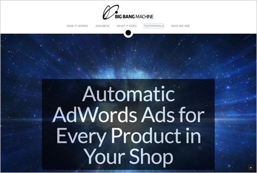 The Big Bang Machine erstellt gratis automatisch Google AdWords-Anzeigen für alle Produkte eines Shops