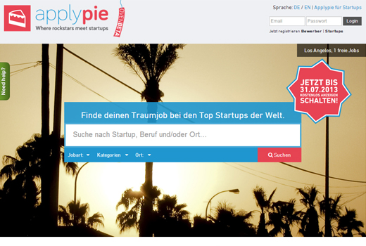 5 neue Startups: Applypie, teamspir.it, feelthecity, panoti, Krauterie