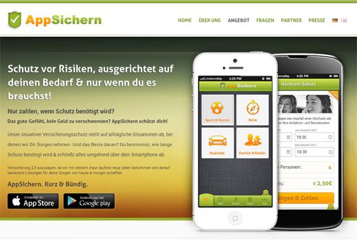 AppSichern bietet Versicherungen per App
