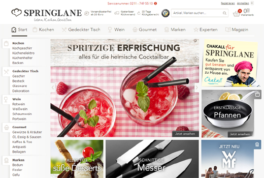 5 neue Deals: Springlane, Kleiderkreisel, Paymy, Viasto, The Iconic