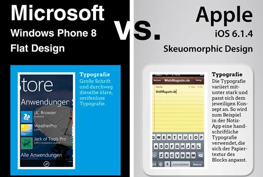 Infografik: Design-Trend Flat-Design – Windows macht es vor
