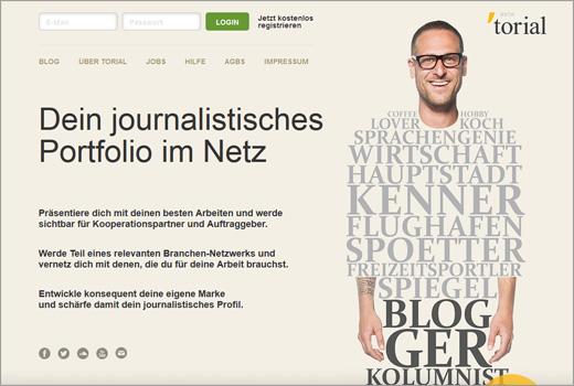 torial: Portfolio-Plattform für Journalisten und artverwandte Berufe