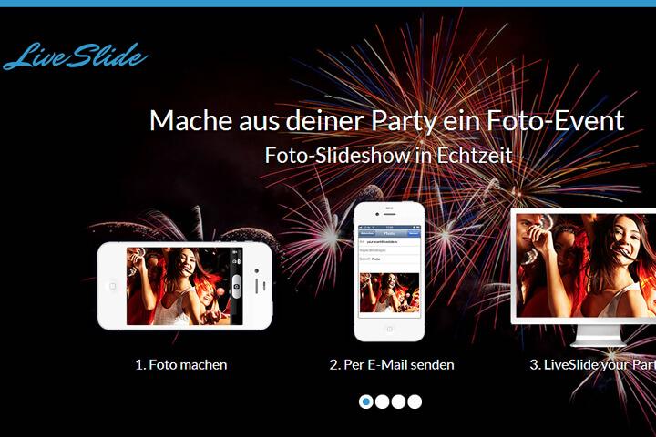 Live-Foto-Slideshows für Partys und Events