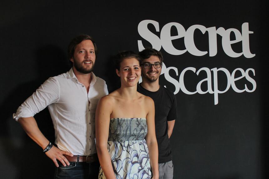 Digitale Leute - Hagen Wolf - Secret Escapes - Gruppenfoto des Partnerships-Teams: Hagen, René und Nils.