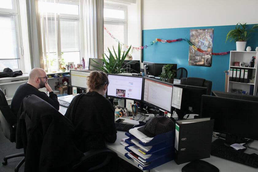Digitale Leute - Kerstin Timm - Artaxo - Ein weiteres Zimmer im Office von Artaxo in Hamburg.