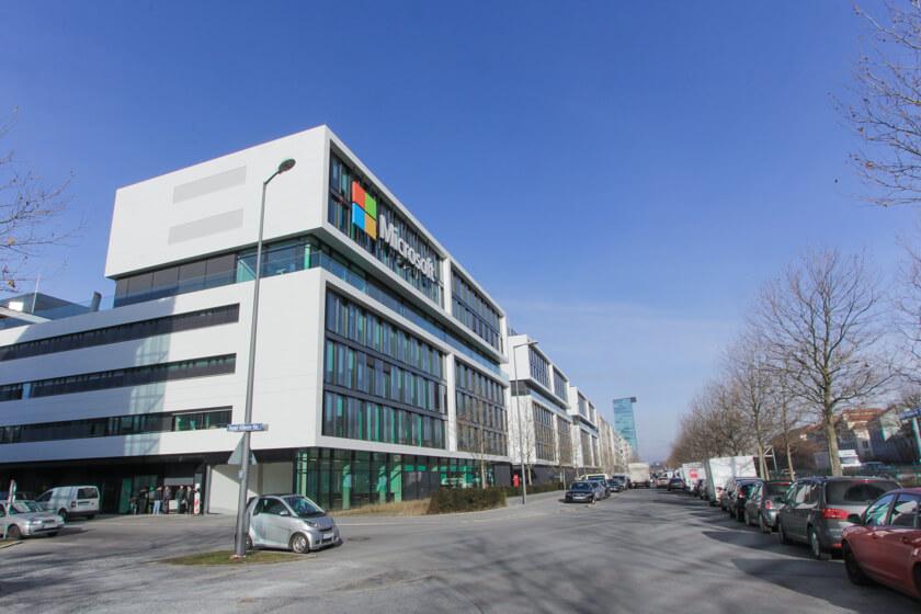 Digitale Leute - Tobias Röver - Microsoft - Das Gebäude in München, das im September bezugsfertig war.