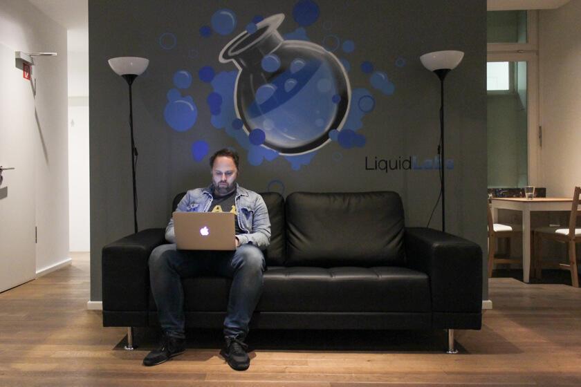 Digitale Leute - Sebastian Hoop - CollectAI - Momentan sitzt CollectAI noch bei Liquid Labs. Aber wennj sie weiter so wachsen, benötigen sie eigene Räumlichkeiten.