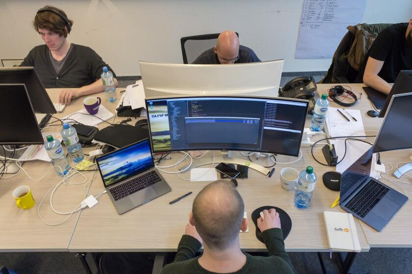 Digitale Leute - André Hoendgen - Justix - Teile des Teams von André Hoendgen arbeiten remote.