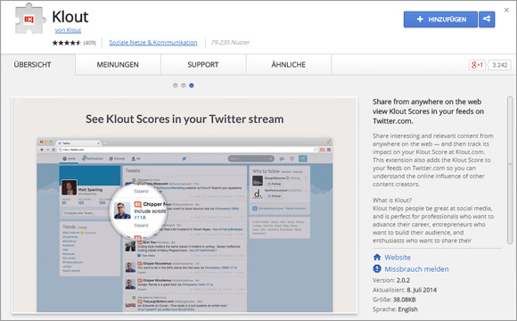 ChromeExtensions-klout