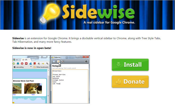 ChromeExtensions-sidewise
