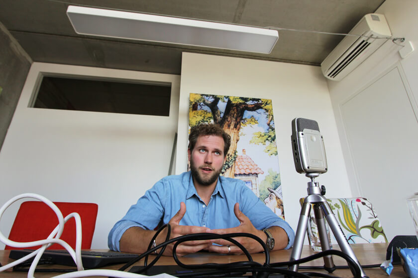 Digitale Leute - Christian Dommers - Eyeo GmbH - Christain Dommers während des Interviews