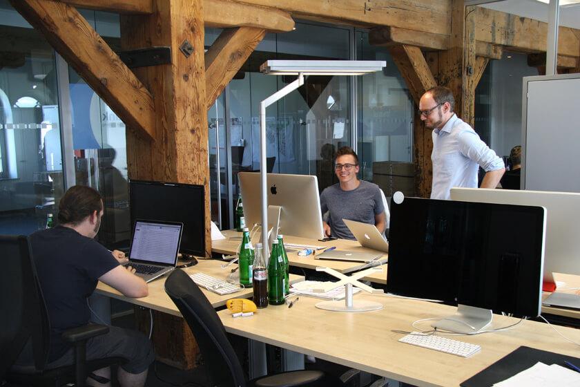 Digitale Leute - Michael Stache - Scanbot - Das Büro ist ein Umbau eines historischen Gebäudes