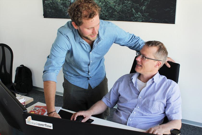 Digitale Leute - Christian Dommers - Eyeo GmbH - Im Gespräch mit einem Kollegen