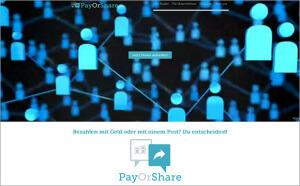 PayOrShare – Zahlen mit Reichweite oder mit Geld