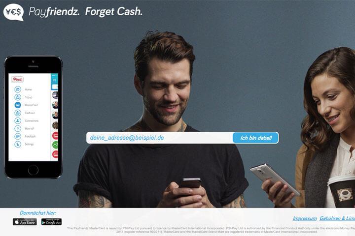 Mit payfriendz Geld per Smartphone verleihen