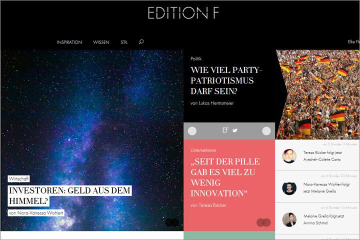 Edition F: Plattform für Frauen – mit persönlichem Stream