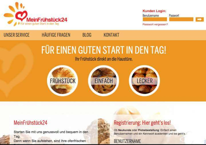 MeinFrühstück24, Probino, Bettervest, Stadtgestöber, Global Homing
