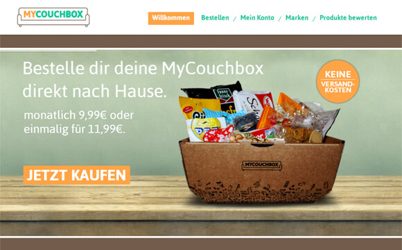 mycouchbox liefert snacks direkt auf die couch deutsche. Black Bedroom Furniture Sets. Home Design Ideas