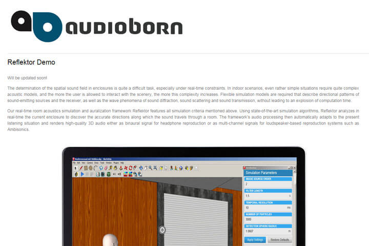 audioborn hilft Architekten bei Bewerten der Akustik