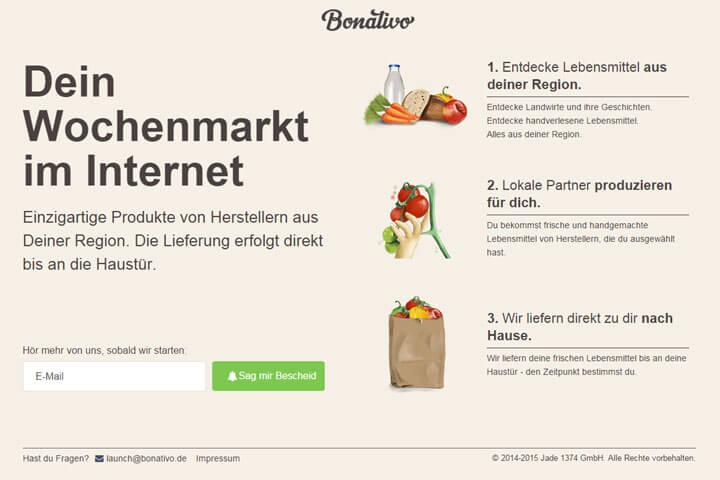 Bonativo von Rocket bringt den Wochenmarkt ins Netz