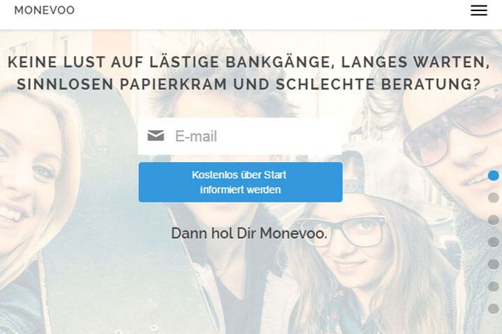 Monevoo hilft finanziellen Ziele zu erreichen